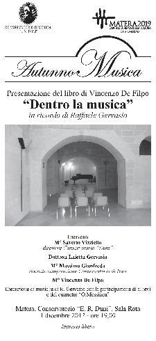 """""""Dentro la musica"""" in ricordo di Raffaele Gervasio - 1 dicembre 2012 - Matera"""