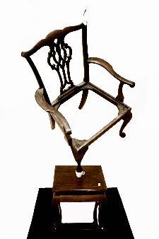 Emmanuele De Ruvo,Hypermnetic British Caf� - construction Legno, ceramica, argento, specchio e zucchero, 2010