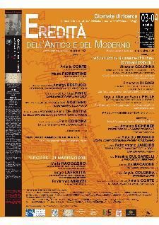 Eredità dell'Antico e del Moderno - 3 e 4 aprile 2012 - Matera