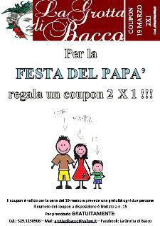 Festa del Papà al Ristorante La Grotta di Bacco - Matera