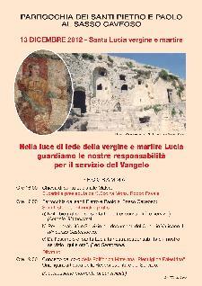Festività di Santa Lucia - 13 dicembre 2012 - Matera