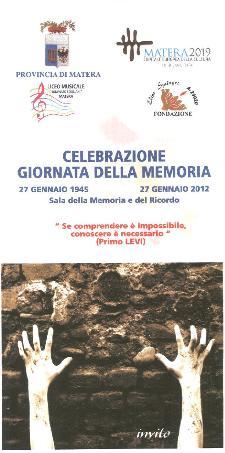 Giornata della Memoria 2012 - Matera