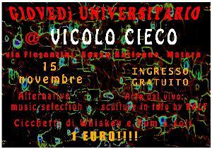 Giovedì universitario a Matera - 15 novembre 2012 - Matera