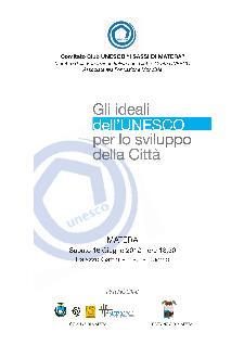 Gli ideali dell'UNESCO per lo sviluppo della Città - 16 giugno 2012 - Matera