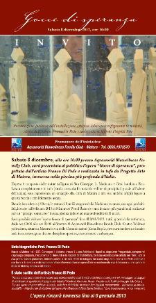 Gocce di Speranza ad Aqvaworld - 8 dicembre 2012 - Matera