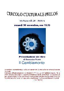 Il Cambiamento  - Presentazione del libro di Domenico Pesce - 30 novembre 2012 - Matera