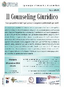 Il Counseling Giuridico: Nuove prospettive formative per accrescere competenze professionali e personali - 29 ottobre 2012 - Matera
