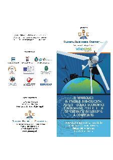Il minieolico in Italia e in Basilicata: aspetti tecnici, economici e normativi, politiche ed opportunità di sviluppo a confronto - 25 maggio 2012 - Matera