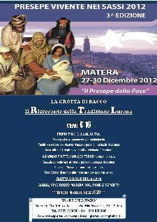 Il Ristorante della Tradizione Lucana - dal 27 al 30 dicembre 2012 - Matera
