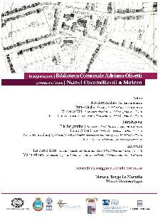"""Inaugurazione Biblioteca comunale """"Adriano Olivetti""""  - Matera"""