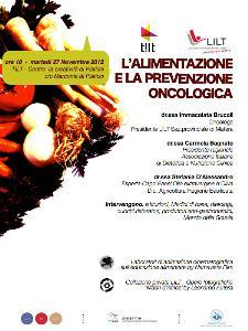 L'Alimentazione e la prevenzione oncologica - 27 novembre 2012 - Matera