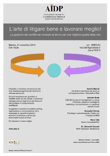 L'arte di litigare bene e lavorare meglio - 21 novembre 2012 - Matera