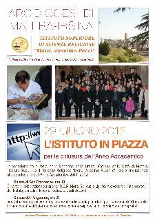 L'ISTITUTO IN PIAZZA per la chiusura dell'Anno Accademico - 29 giugno 2012 - Matera