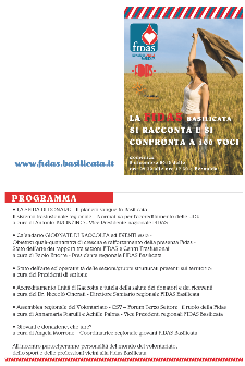 LA FIDAS BASILICATA SI RACCONTA E SI CONFRONTA A 100 VOCI - 2 dicembre 2012 - Matera