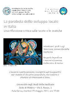 La parabola dello sviluppo locale in Italia - 29 maggio 2012 - Matera