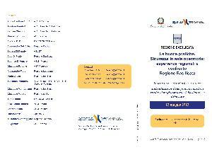 LE BUONE PRATICHE: SICUREZZA IN SALA OPERATORIA; ESPERIENZE REGIONALI A CONFRONTO - 12 maggio 2012 - Matera