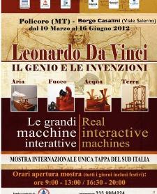 Le grandi macchine interattive di Leonardo Da Vinci  - Matera