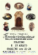 Memoria e Testimonianza - Storia Arti e Tradizioni della Civiltà Contadina - Matera