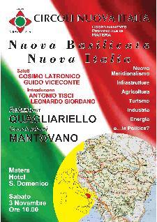 NUOVA BASILICATA IN UNA NUOVA ITALIA - 3 novembre 2012 - Matera