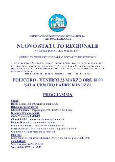 """NUOVO STATUTO REGIONALE """"PRIMATO DELLA SOCIETA'""""  - Matera"""