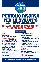 Petrolio Risorsa per lo Sviluppo - art. 16 Decreto Liberalizzazioni - 13 aprile 2012 - Matera