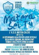 Presentazione ufficiale squadra Matera Calcio - 26 luglio 2012 - Matera