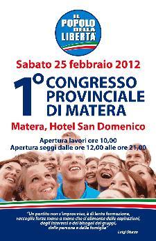 Primo Congresso Provinciale PDL - Matera