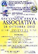 Seconda festa associativa - 28 ottobre 2012 - Matera