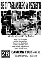 TRIBUTO a FABRIZIO DE ANDRE' - 28 dicembre 2012 - Matera