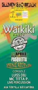WAIKIKI PARTY - LIMITED EDITION - 9 aprile 2012 - Matera