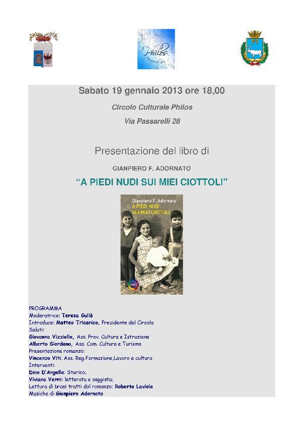 A PIEDI NUDI SUI MIEI CIOTTOLI - 19 gennaio 2013