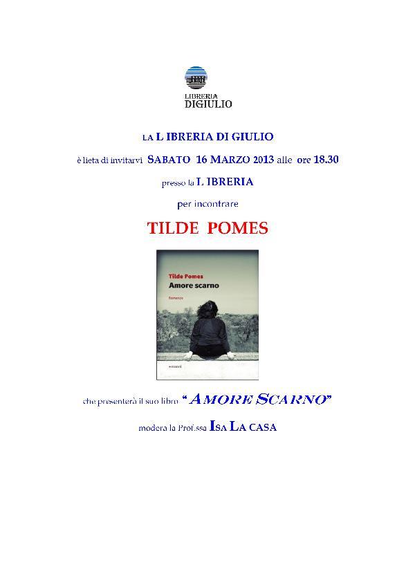 AMORE SCARNO - 16 marzo 2013
