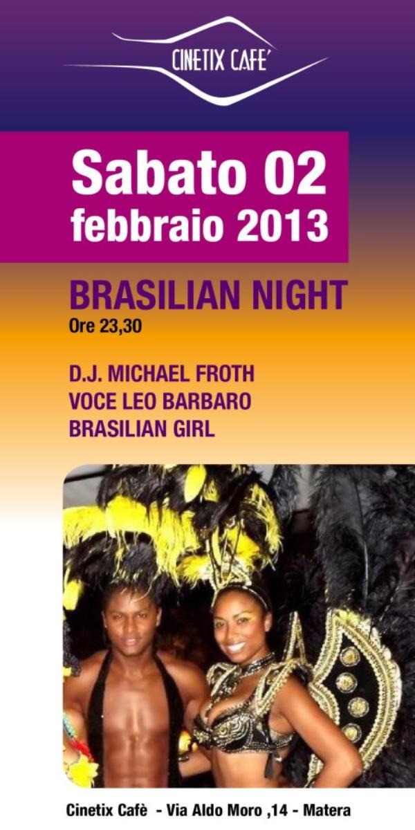 BRASILIAN NIGHT - 2 febbraio 2013