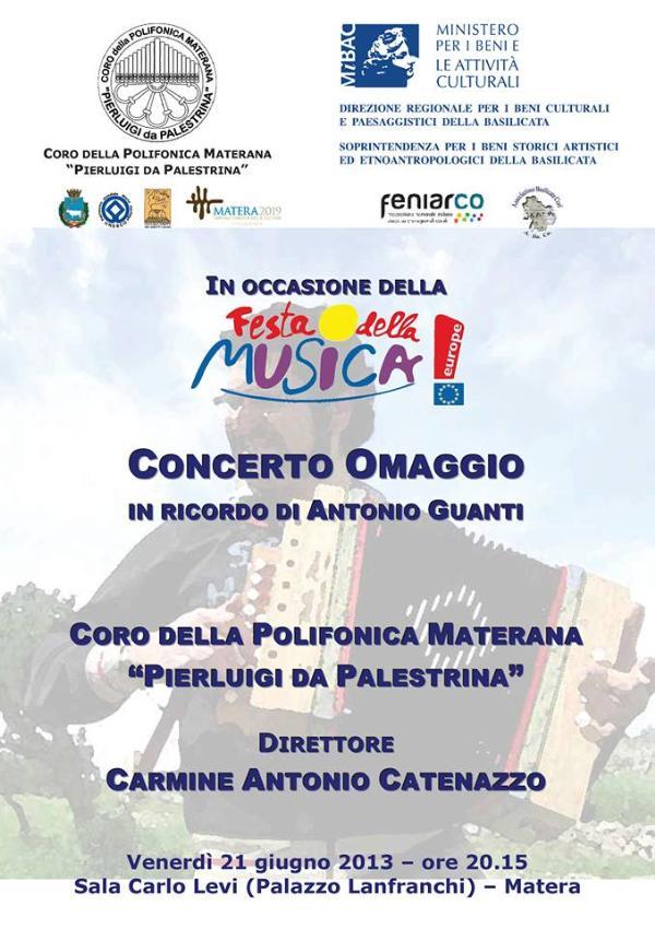 Concerto in ricordo di Antonio Guanti - 21 giugno 2013