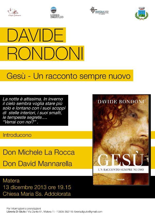 Davide Rondoni a Matera