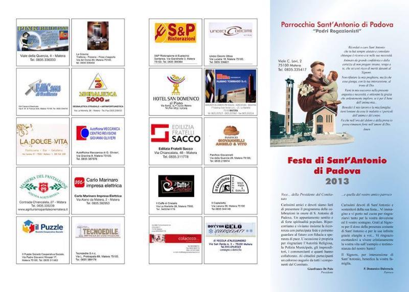 Festa in onore di S.Antonio di Padova - 13 giugno 2013