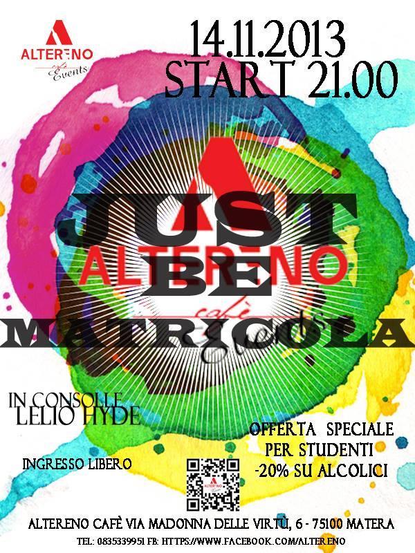 Just be Matricola - 14 novembre 2013