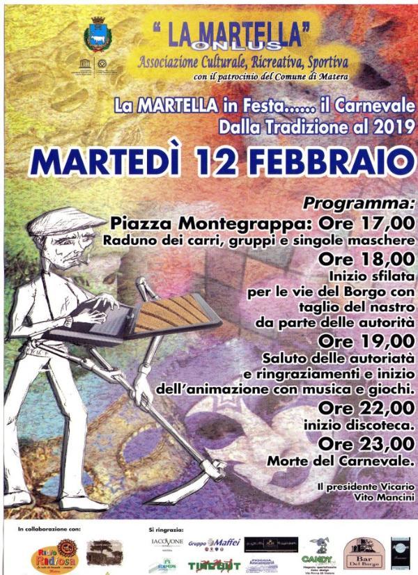La Martella in Festa, il Carnevale dalla Tradizione al 2019 - 12 febbraio 2013