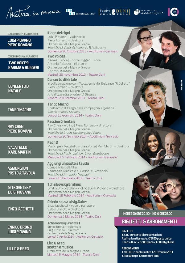 Matera in Musica 2013 - 2014