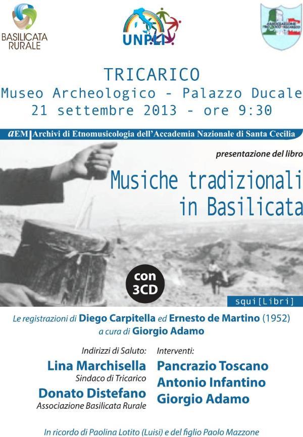 Musiche tradizionali in Basilicata - 21 settembre 2013