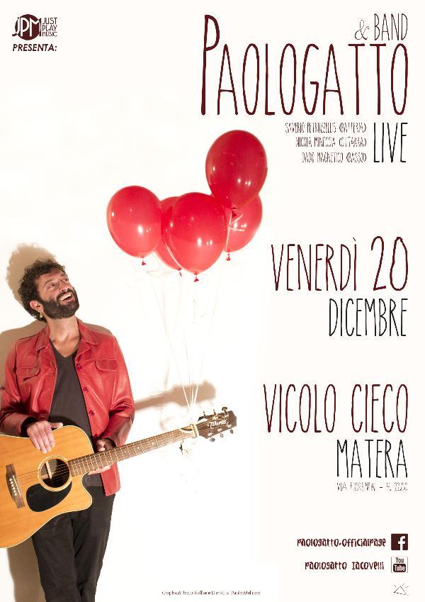 Paologatto & Band live - 20 dicembre 2013