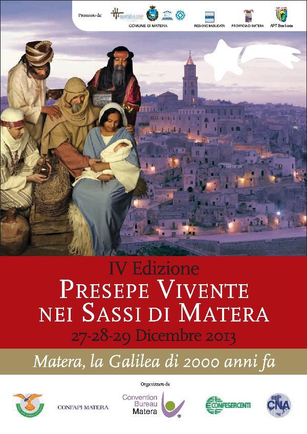 Presepe vivente 2013: Matera, la Galilea di 2000 anni fa