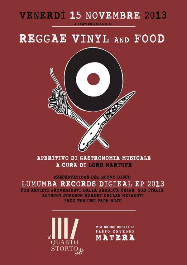 Reggae Vinyl and Food - 15 novembre 2013