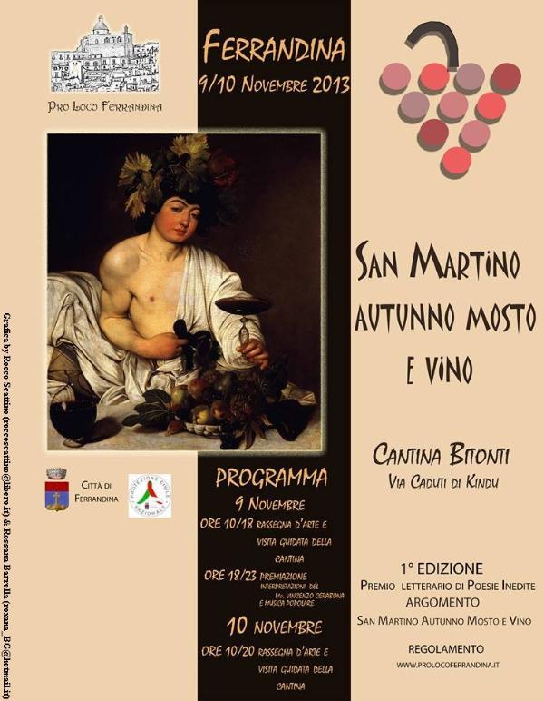 San Martino, autunno mosto e vino