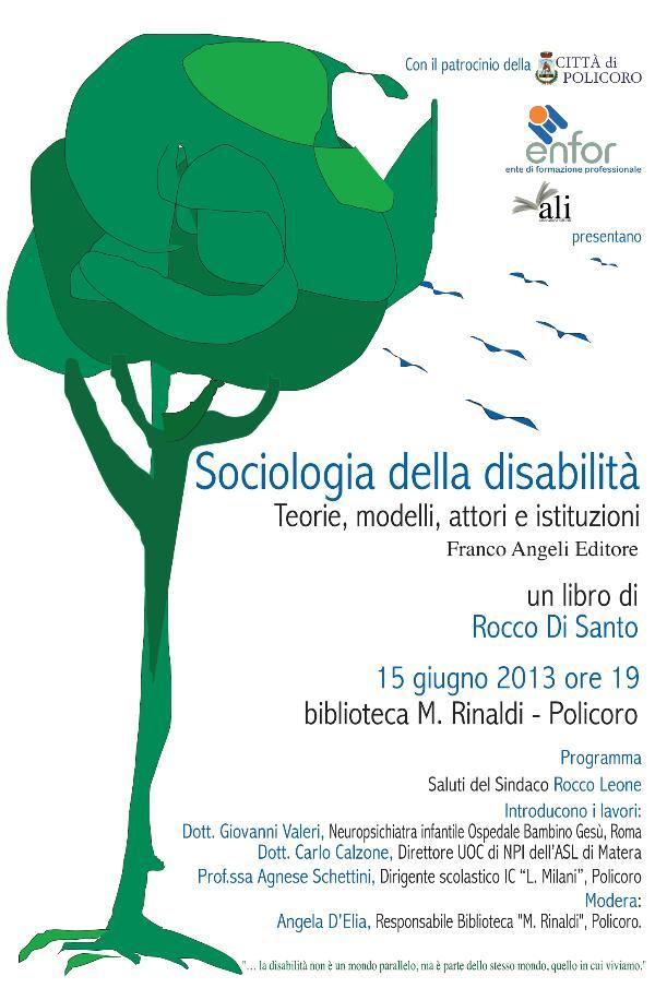 Sociologia della disabilità  - 15 giugno 2013