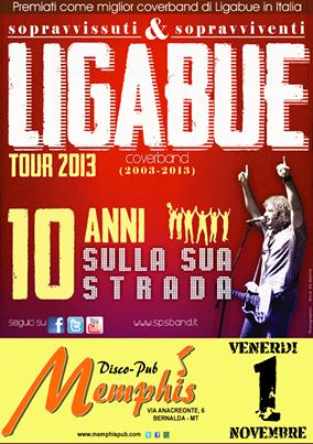 Sopravissuti e Sopravviventi tribute to Ligabue - 1 novembre 2013