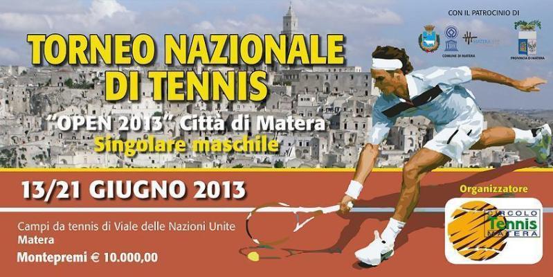 """Torneo Nazionale di Tennis Fit Open """"Città di Matera 2013"""""""