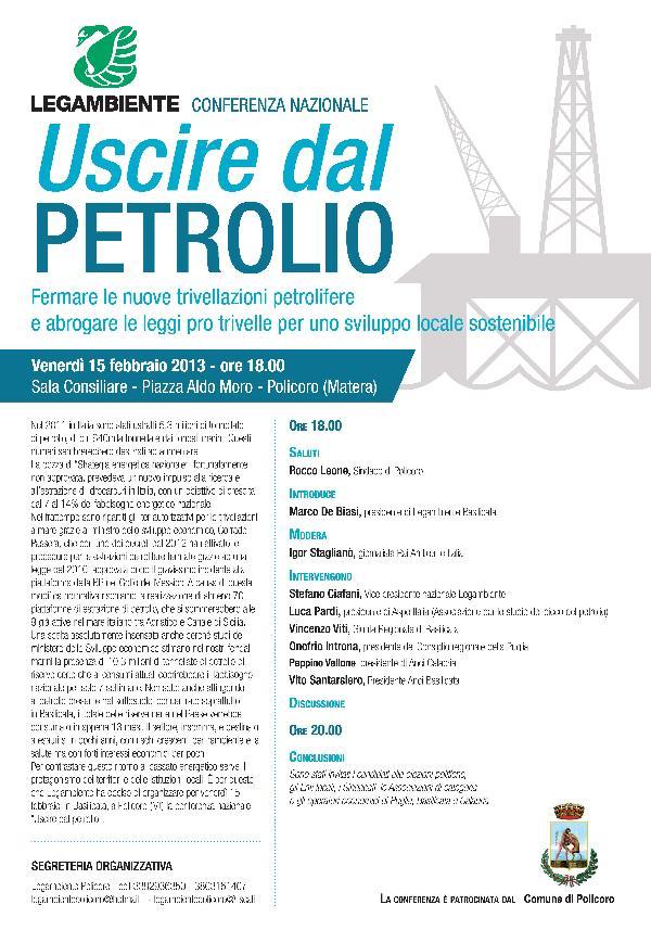 Uscire dal Petrolio - 15 febbraio 2013
