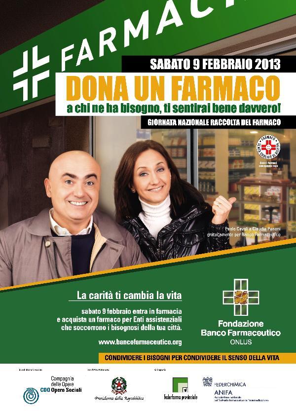 XIII Giornata Nazionale di Raccolta del Farmaco - 9 febbraio 2013