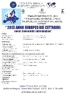 2013 ANNO EUROPEO DEI CITTADINI: per un' Europa della partecipazione  - Matera